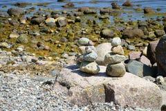 Pile di pietre del ciottolo Fotografia Stock Libera da Diritti
