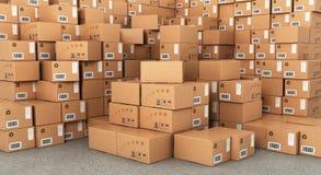 Pile di scatole di cartone illustrazione di stock