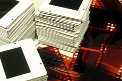 Pile di trasparenze & di negazioni di pellicola Immagine Stock