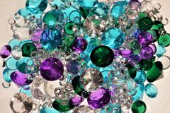 Pile of Diamonds, Rubies, Emeralds and Sapphires. Pile of Jewels, Diamonds, Rubies, Emeralds and Sapphires Stock Images