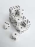 Pile of dice royalty free stock photography