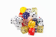 Pile of dice royalty free stock image