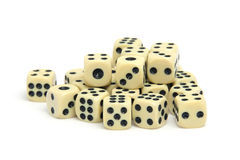 Pile of dices Royalty Free Stock Photo