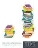 Pile of different books. Vector. . Royalty Free Stock Photography