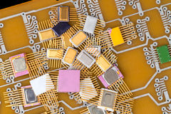 Pile of different chips Stock Photography