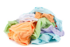 Pile of different color female pants Stock Image