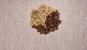 Pile of different colored coffee beans Stock Photo