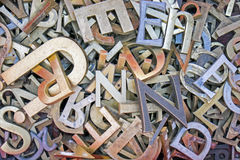 Pile of different iron letters Royalty Free Stock Photography