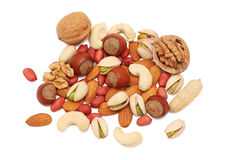 Pile from different kinds of nuts () Stock Photos