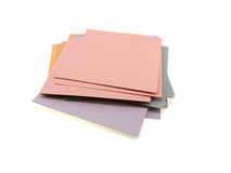 Pile of different multi-coloured office paper Stock Photo