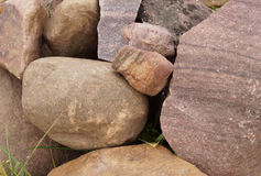 Pile of different stones. Stock Images