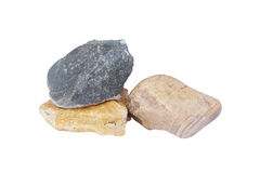 Pile of different stones. Stock Photo