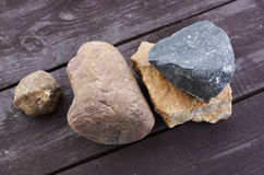 Pile of different stones. Stock Image