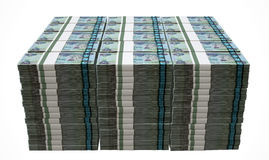 Pile Dirham Bank Notes Stock Photo