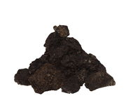 Pile dirt isolated on white Royalty Free Stock Photo