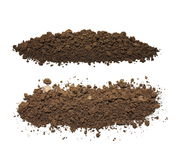 Pile dirt isolated on white background with clipping path Royalty Free Stock Images
