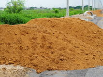 Pile of dirt. For use in construction stock photos
