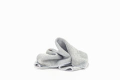 Pile of dirty laundry cloth Isolated on white. Stock Image