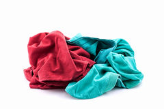Pile of dirty laundry Isolated on white. Stock Photos