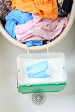Pile of dirty laundry washing Stock Photo