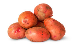 Pile of dirty potatoes Royalty Free Stock Photos