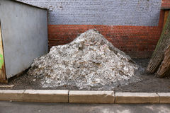 Pile of dirty snow Royalty Free Stock Images