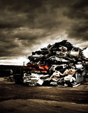 Pile of discarded cars Royalty Free Stock Image