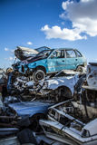 Pile of discarded old cars Stock Image