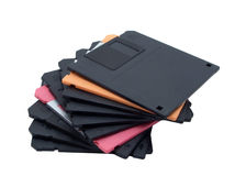 Pile of diskettes Stock Image