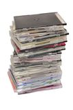 Pile of disks Stock Photo