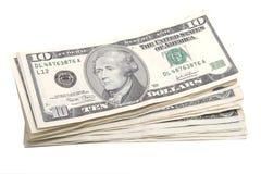 pile dix du dollar de billets de banque Photos stock