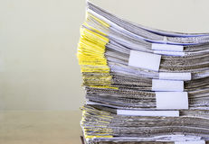 Pile of document waiting to be managed. On background Royalty Free Stock Photography