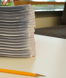 Pile of document waiting to be managed Stock Photo
