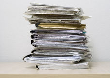 Pile of documents. The pile of documents lies on table Royalty Free Stock Photography