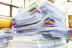 Pile of documents with colorful Royalty Free Stock Photography