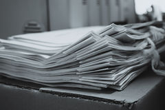 Pile of documents with colorful Stock Photo