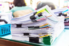 Pile of documents with colorful Stock Photography