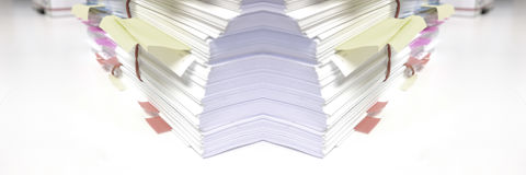 Pile of Documents in Office. Stack or pile of documents in office Stock Photos