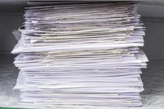 Pile of documents papers stock photography