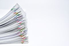 A pile of documents. stock image
