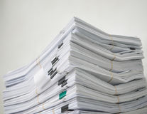 Pile of documents Royalty Free Stock Photos