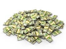 Pile of dollar bundles Stock Image