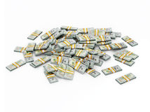 Pile of dollar bundles. US dollars banknotes - creative business finance making money concept - pile of new 100 US dollars 2013 edition banknotes (bills) Royalty Free Stock Photos
