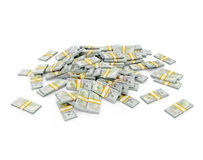 Pile of dollar bundles Stock Images