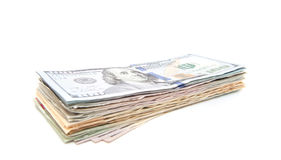 Pile of dollar notes Royalty Free Stock Images
