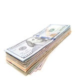 Pile of dollar notes Royalty Free Stock Image