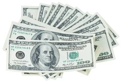 Pile of the dollars Royalty Free Stock Image