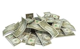 Pile of dollars Royalty Free Stock Photos