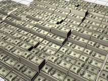 Pile of dollars. 3d render Royalty Free Stock Images
