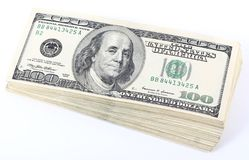 Pile of dollars Stock Photo